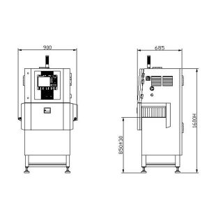 JZXR XR-2300D X-Ray Food Inspection System 2