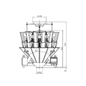JZXR 14 head 2.5L waterproof multi-head weigher packing machine for candy potato chips and nuts Metal Separator 3
