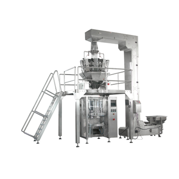 JZXR 14 head 2.5L waterproof multi-head weigher packing machine for candy potato chips and nuts Metal Separator